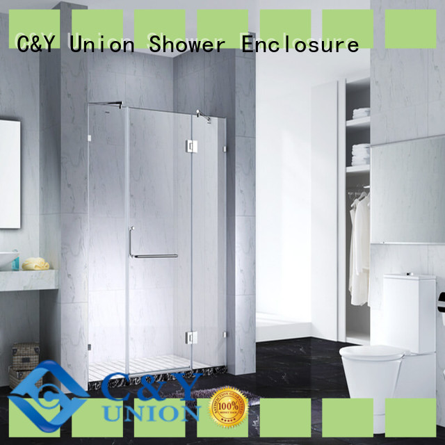 C&Y Union stable frameless glass doors easy clean for bathroom