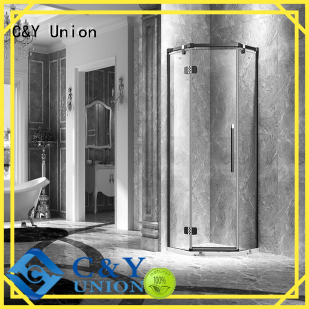 C&Y Union semi frameless shower door for bath