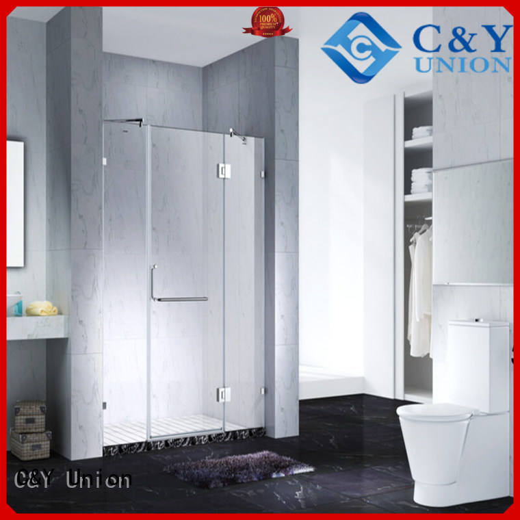 stable frameless glass shower easy clean for shower room