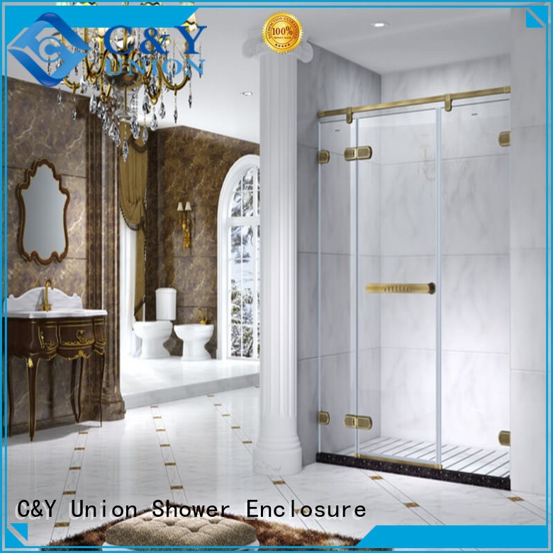 C&Y Union firm semi frameless shower door cubicles for tub