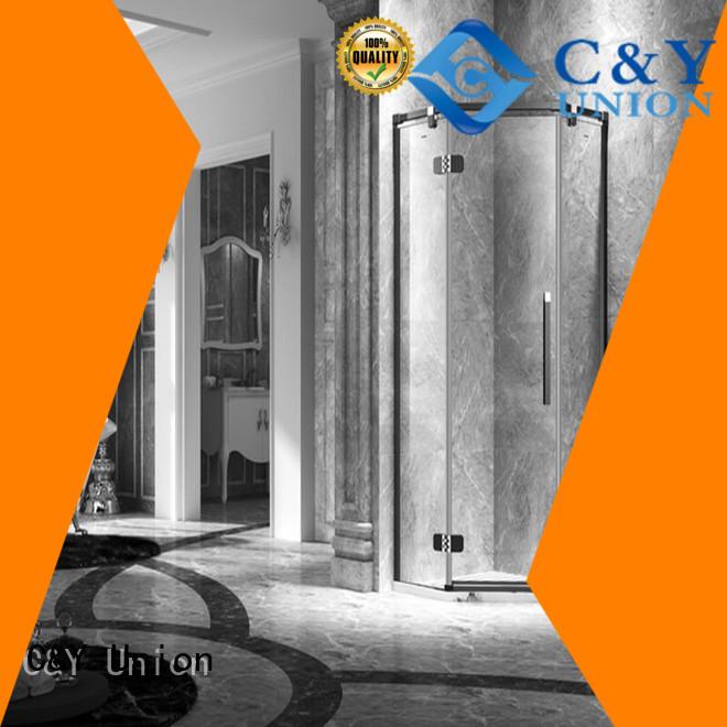 C&Y Union frameless shower enclosure easy clean for bath