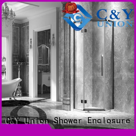 C&Y Union frameless shower for tub