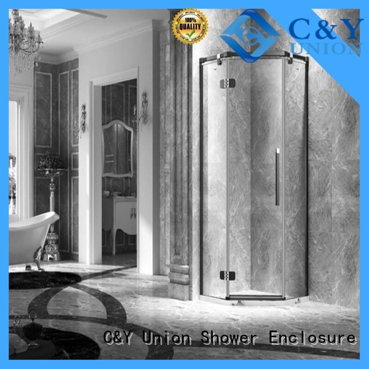 firm frameless shower cabin for tub