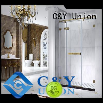 C&Y Union frameless glass shower easy clean for bath