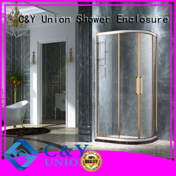 C&Y Union semi framed shower door for tub for alcove