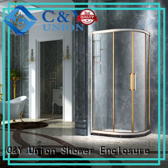 C&Y Union colorful semi framed shower door manufacturer for corner