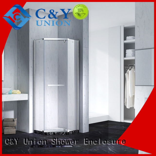 C&Y Union practical semi frameless shower shower for bagnio