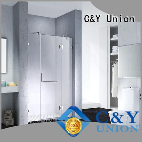 C&Y Union stable frameless shower enclosure cabin for shower room