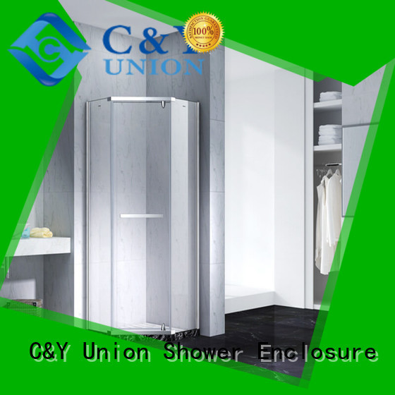C&Y Union semi frameless shower door cubicles for shower room