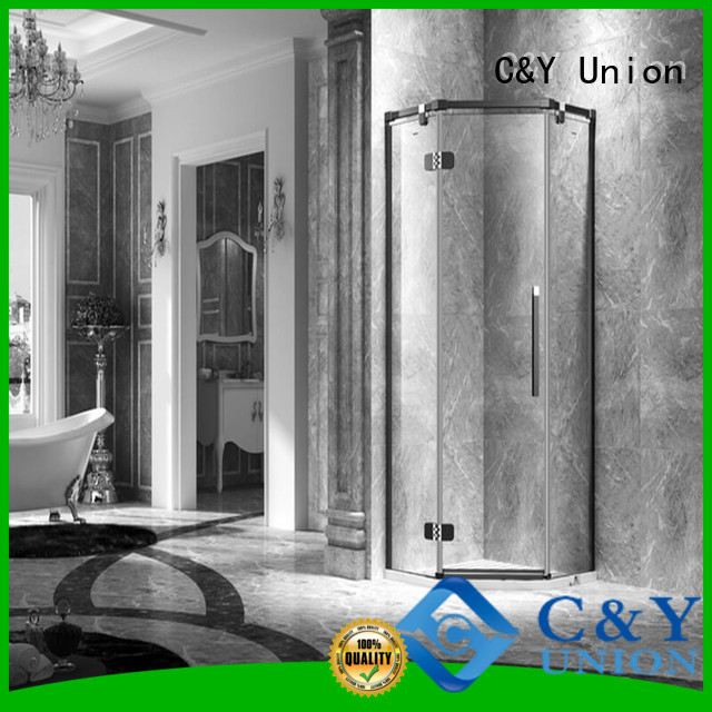 C&Y Union semi frameless shower door shower screen for bagnio