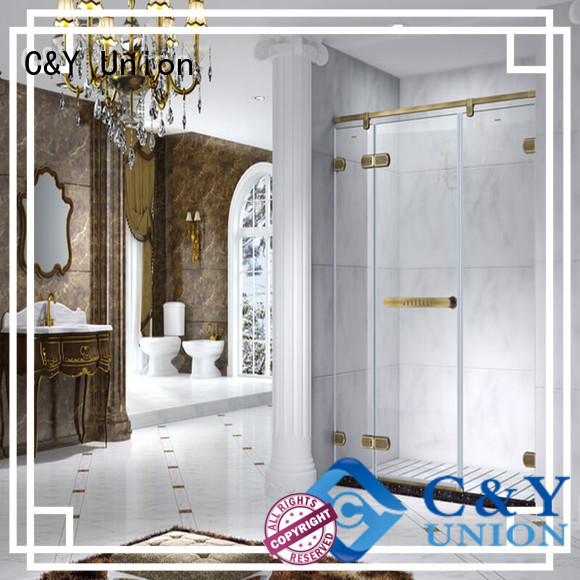 C&Y Union semi frameless shower door factory for bath