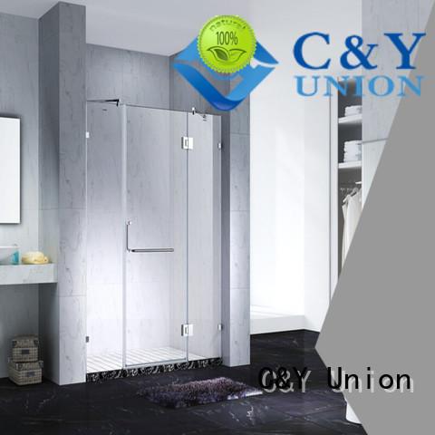C&Y Union frameless shower enclosure easy clean for tub