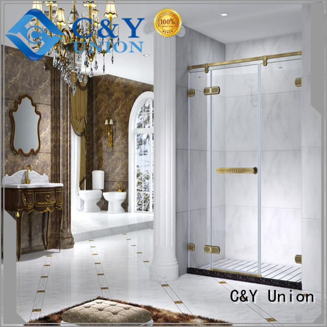 C&Y Union stable frameless shower screen cubicles for bagnio