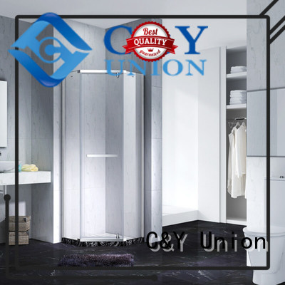 C&Y Union stable frameless shower screen cubicles for bathroom