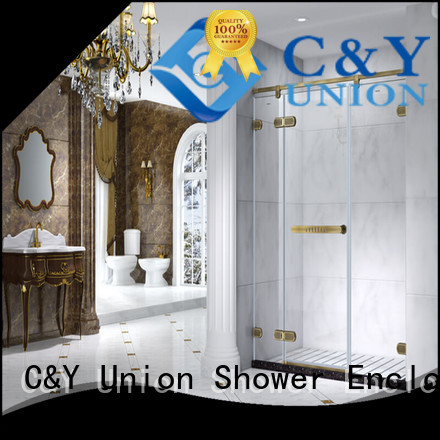 C&Y Union high quality frameless glass doors shower panels for bathroom