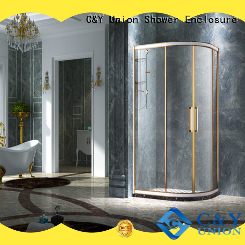 C&Y Union aluminum shower cabin for bathtub showers