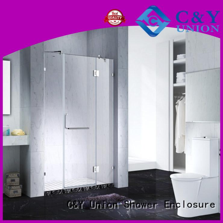 C&Y Union practical frameless glass shower for bathroom