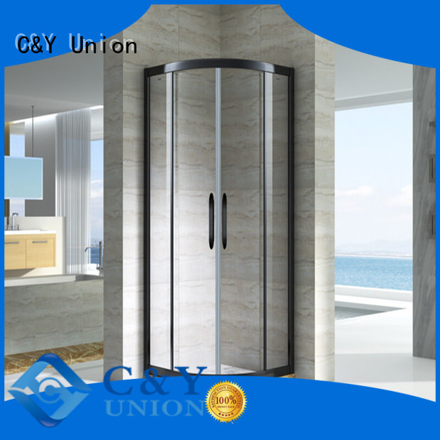 C&Y Union framed glass shower for sale for bathroom