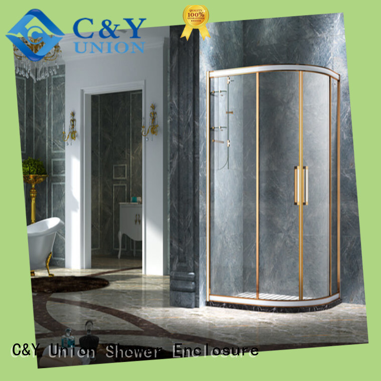 C&Y Union colorful framed glass shower for shower room