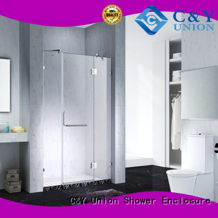 C&Y Union practical frameless shower enclosure cabin for bathtub