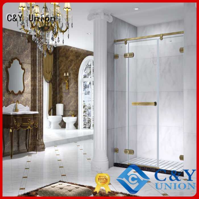 high quality frameless glass shower factory for tub