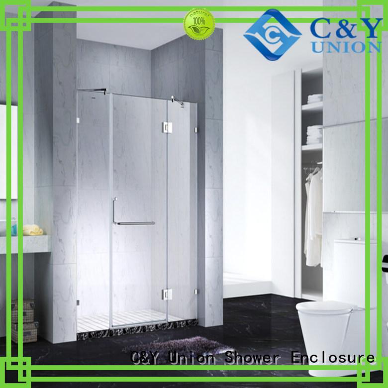 C&Y Union rectangle frameless glass shower shower screen for bath