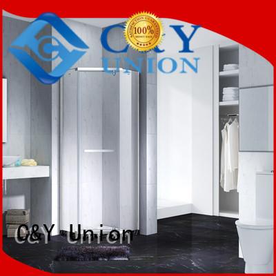 C&Y Union high quality frameless glass doors shower screen for bathtub