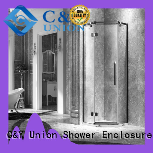 C&Y Union stable glass shower enclosures cubicles for bathtub