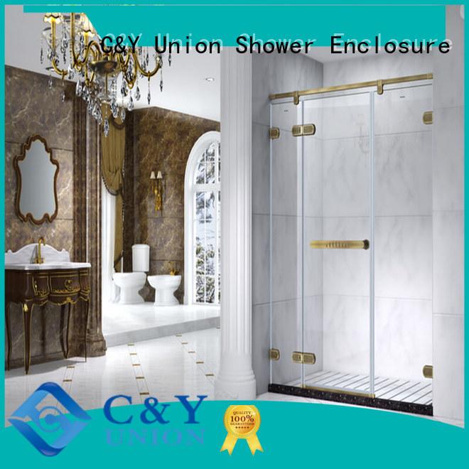 C&Y Union firm frameless shower screen easy clean for bathroom