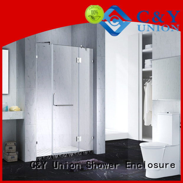 C&Y Union firm frameless shower screen factory for bathtub