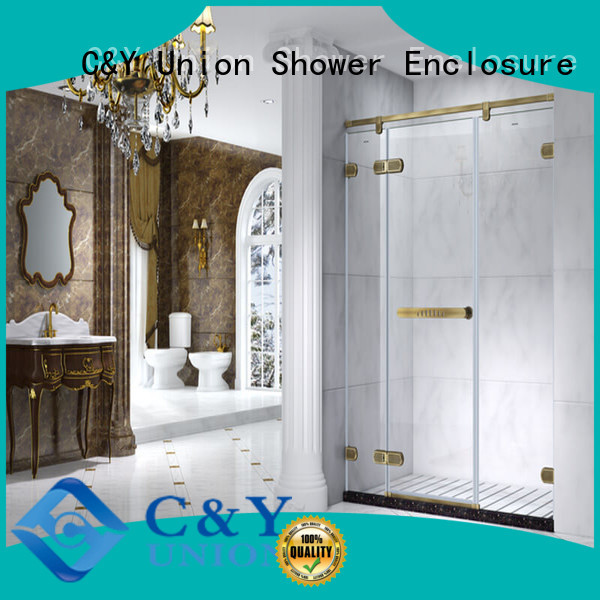 C&Y Union frameless shower enclosure factory for bagnio