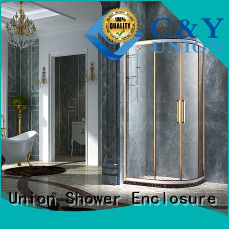 C&Y Union stainless steel framed shower enclosure for bagnio