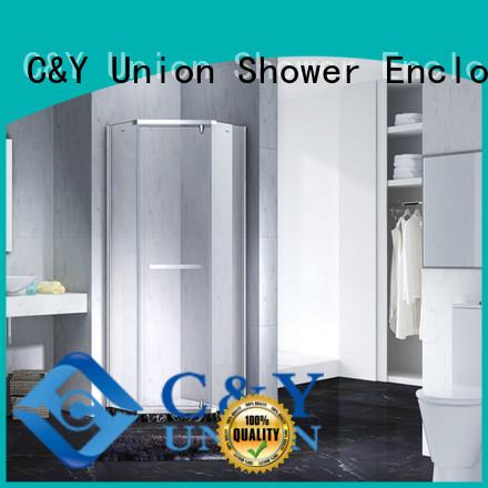 C&Y Union semi frameless shower door shower panels for bathtub